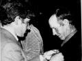Вручается медаль к 50-летию Великой Победы Егорову Степану