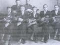 Коллектив балалаечников на смотре района, 1954 год