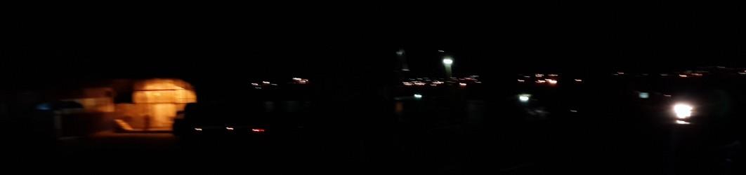 Ночной, общий вид колхозного рынка Урсалы